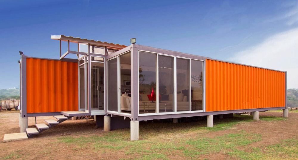en container est très cubique et sûrement une des maisons container ...